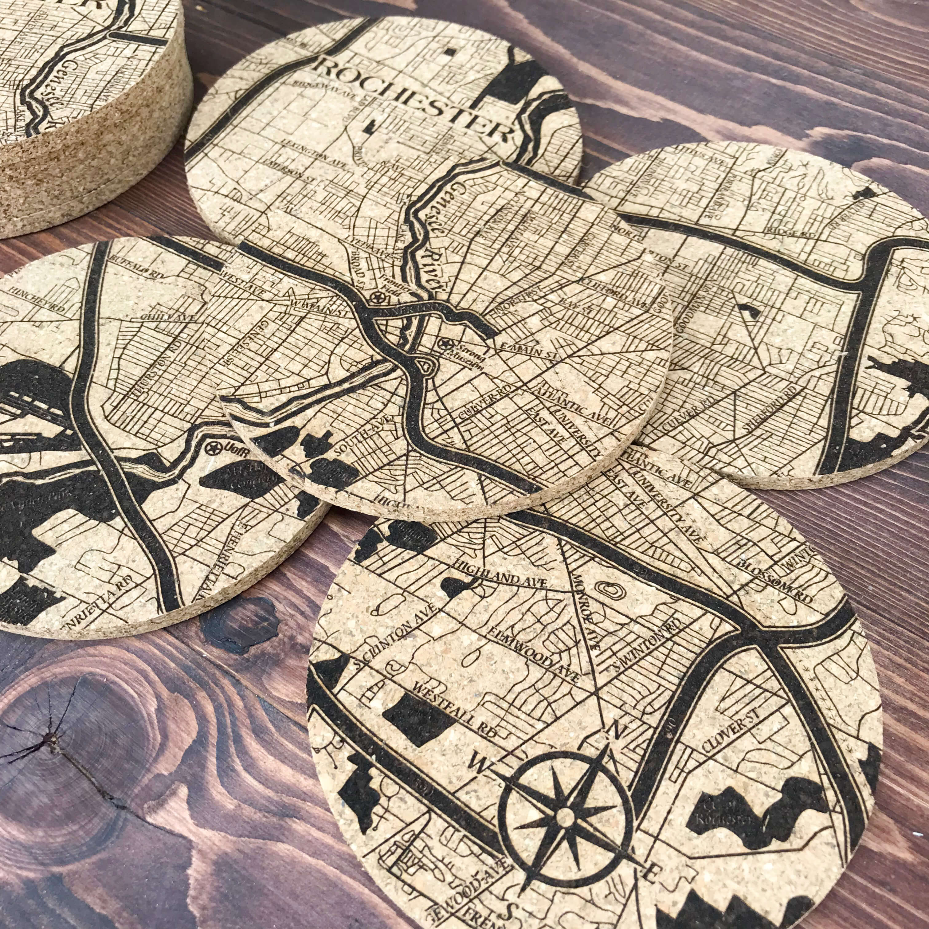 rochester ny personalized gifts rochester new york mosaic coaster
